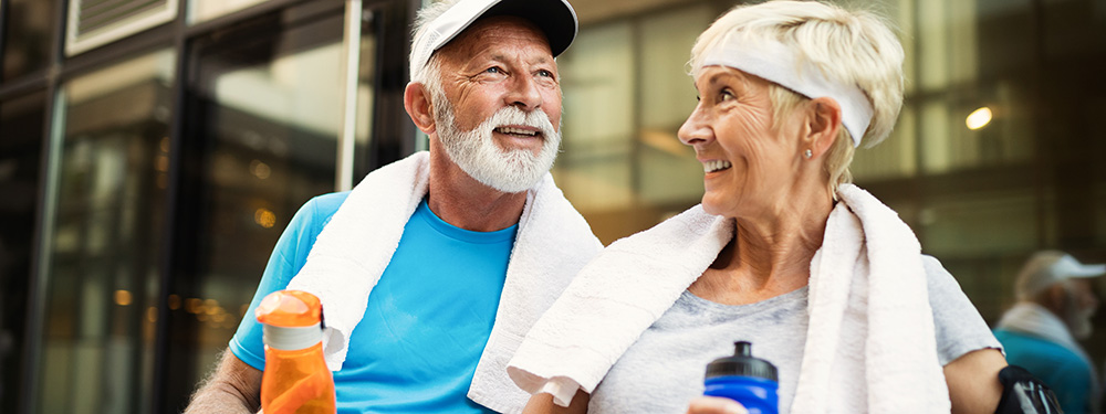 Happy active seniors enjoy hemp CBD oil for health and wellness. Buy hemp CBD products online USA.
