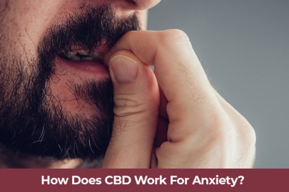 Male bitting fingernails. How does CBD oil work for anxiety and depression. Buy CBD oil online USA.
